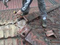 Roof Restoration - remove ridge capping
